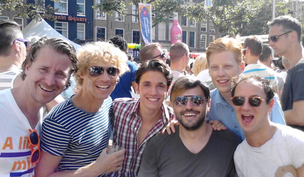 Petar Stojkovikj at Gay Pride Amsterdam 2013